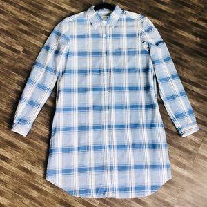 Brand New Steven Alan Plaid Shirt Dress